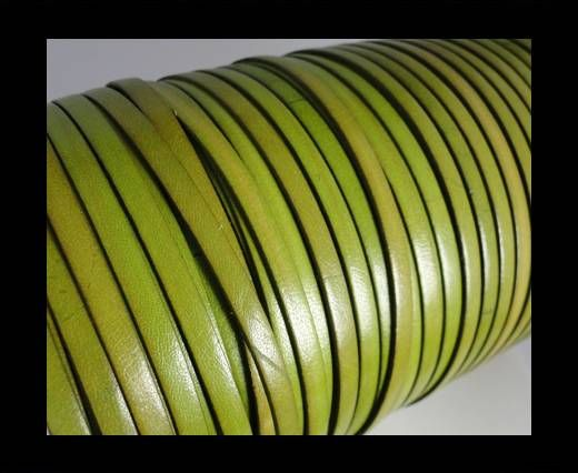 Flat Leather 5mm - Pistachio Green
