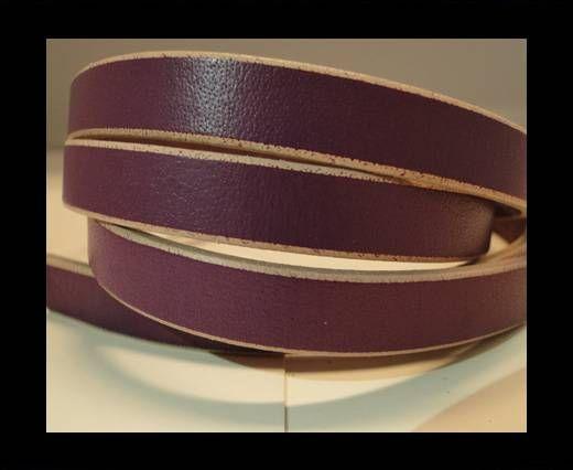 Flat Leather- Natural Edges -Purple-10mm