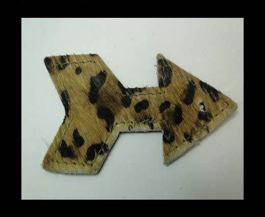 KC-Key Cord Arrow Shape 8cm COW BROWN WITH BLACK