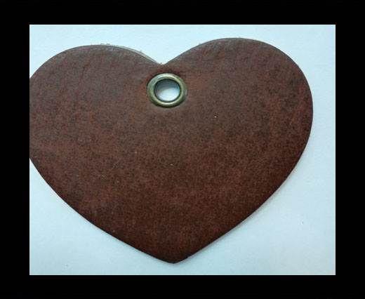 KC-Key Cord Heart Shape 4cm brown