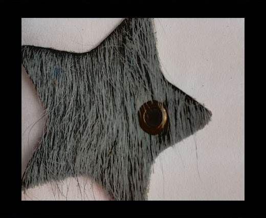 KC-Key Cord Star Shape 4cm grey hair-on