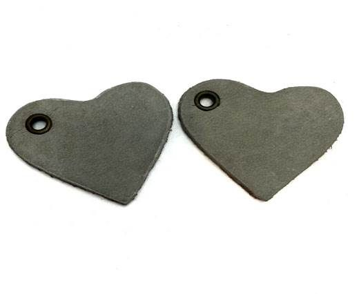 KC-Key Cord Heart Shape 4cm grey