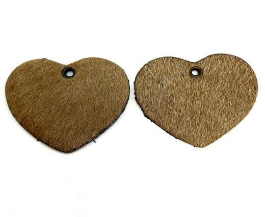 KC-Key Cord Heart Shape 4cm light brown