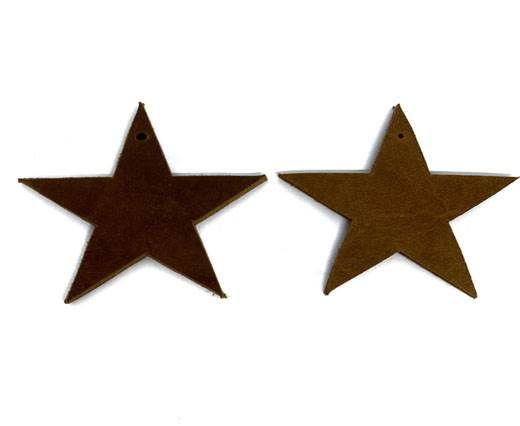 KC-Key Cord Star Shape 8cm brown