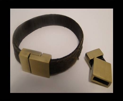 Locks for leather/Cords ZAML-07-Powdered Antique Gold