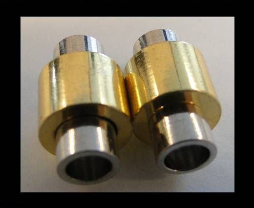 Magnetic Locks for leather Cords - MGL-2-5mm-SILVER AND GOLD