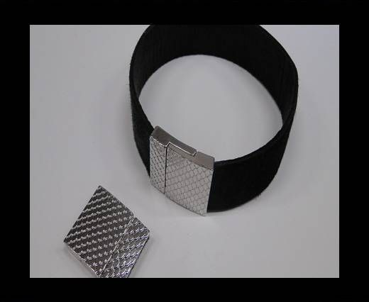 Zamak magnetic claps MGL-246-20*3mm Steel Silver
