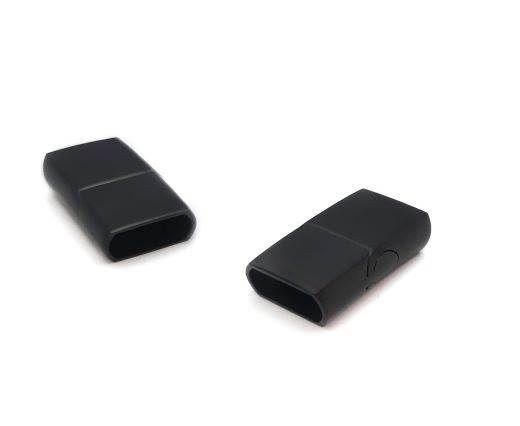 Stainless Steel Magnetic Clasp,Matt Black,MGST-32-10*6mm