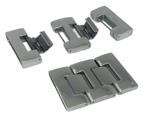 Stainless Steel Magnetic Clasp,Steel,MGST-75-31*3.5mm