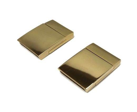 Stainless Steel Magnetic Clasp,Gold,MGST-104-15*3mm