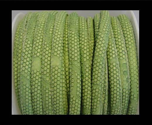 Eco-Nappa 4mm Snake-Dotted-Style-Peridot