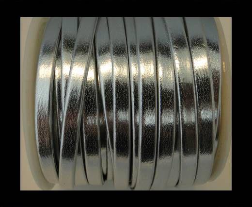 Nappa Flat PU -Silver-5mm
