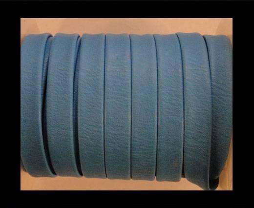 Nappa Flat PU Leather-Turquoise-10mm