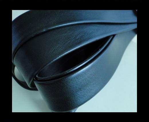 Nappa Leather Flat-Black-20mm