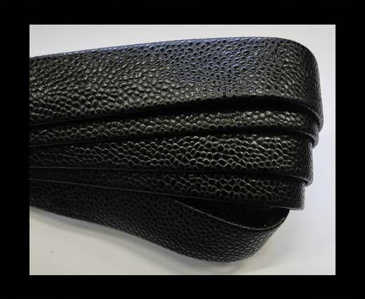 Nappa Leather Flat-caviar style black-20mm