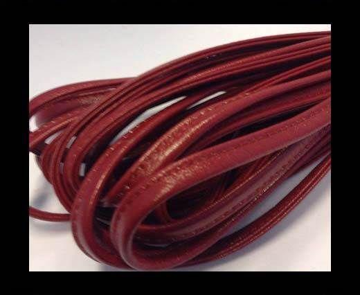 Nappa-Sewn-7mm-Plain Style - Dark Red