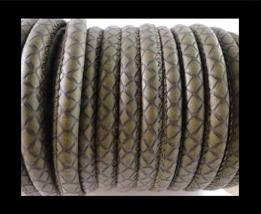 Eco-Nappa 4mm Snake-Patch-Style -Green