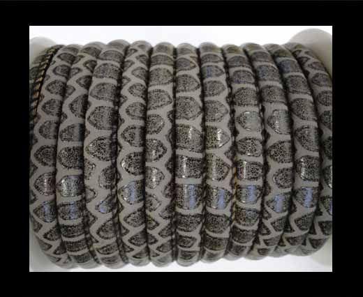 Eco-Nappa 4mm Snake-Patch-Style -Dark Grey