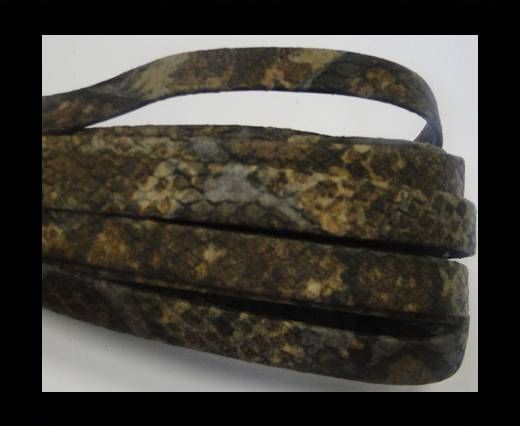 NappaFlat-Snake Style-10mm-dark brown