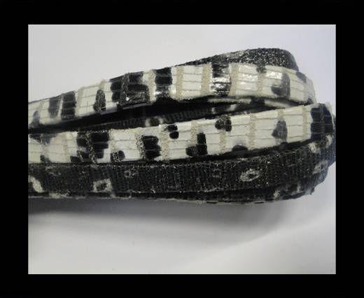 NappaFlat-Snake Style-10mm-grey-white