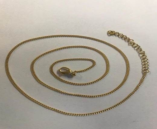 Steel chain item number-29 0.4mm- gold