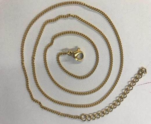 Buy Steel chain item number-31 0.4mm- gold at wholesale price
