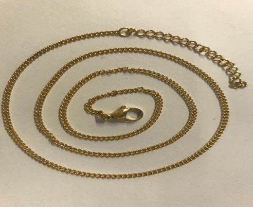 Buy Steel chain item number-34 0.5mm- gold at wholesale price