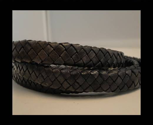 Oval Braided Leather Cord - SE-FD- 18