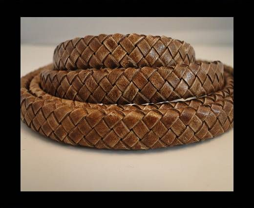 Oval Braided Leather Cord - SE-PB-04