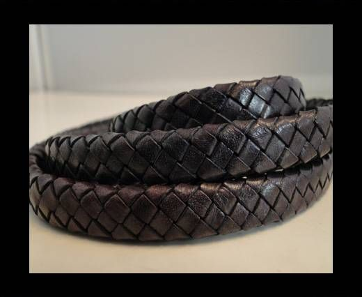 Oval Braided Leather Cord - SE-TD-18