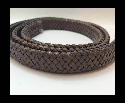 Oval Braided Leather Cord - SE.PB.Dark Grey