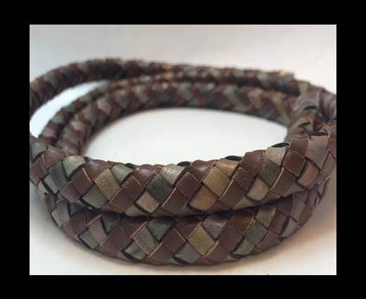 Oval Braided Leather Cord - SE.B.04 & SE.DM.01