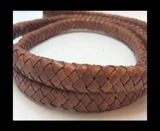 Oval Braided Leather Cord - SE.B.07