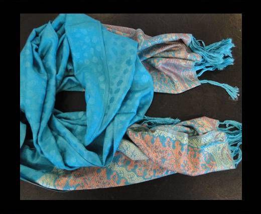 Pashmina Shawl-Style1-Turquoise