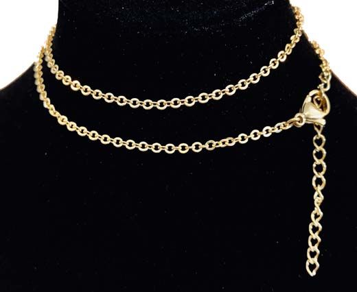 Steel chain item number-28 0,5mm- gold