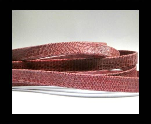 Real Flat Leather - 10mm - Lizard Rose