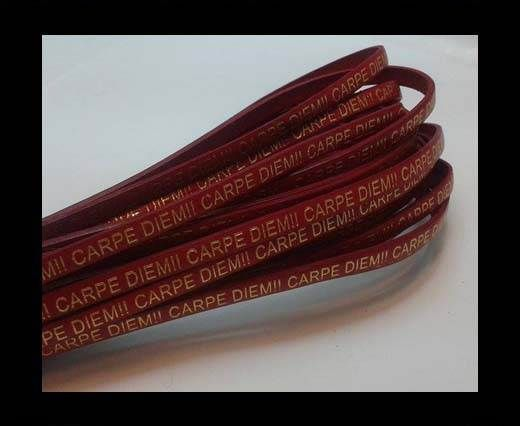 Real Flat Leather-CARPIDIEM-Red
