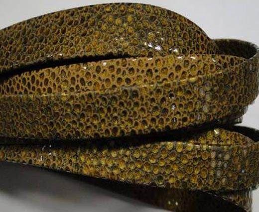Real napa 10 mm Flat - Sting ray style Gold