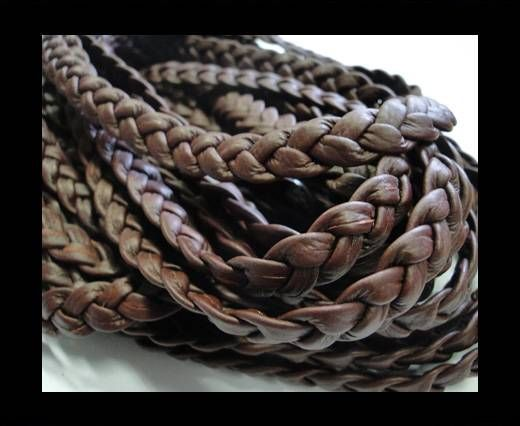 Real Nappa Leather -Flat-Braided-Chery-10mm