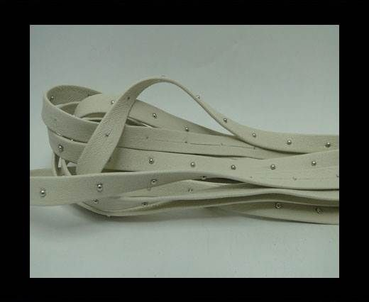 Real Nappa Leather with studs - 10mm - Ivory