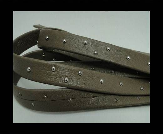Real Nappa Leather with studs - 10mm - Taupe