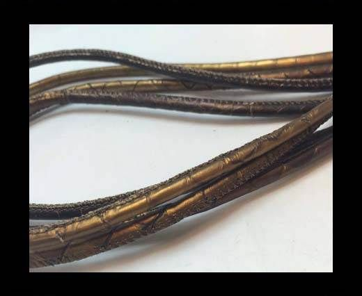 Real Phython Cords Round- 6mm Multi Bronze