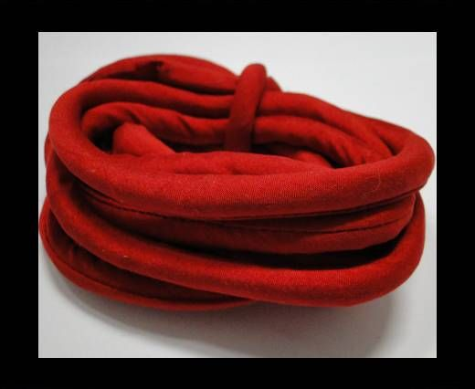 Real silk cords with inserts - 4 mm - Ruby Red