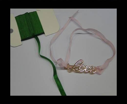 Real Silk Ribbons -A 162-Bright Green - 4mm