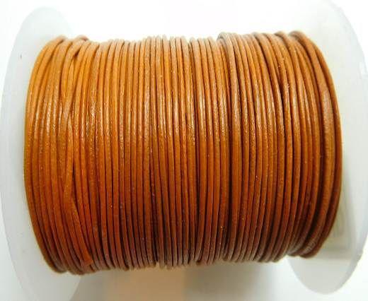 Round Leather Cord -1mm - Cinnamon