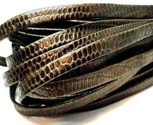 RNL-Flat folden renforced-5mm Lizard brown