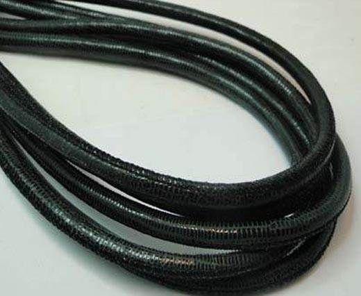 RNL-Round Stitch-6mm-LIZARD BLACK + PAILL. WHITE