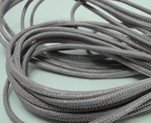 Round stitched nappa leather cord Lizard Prints-Rose Lizard- 2.5m