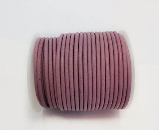Round Leather Cord SE/R/Rose-3mm