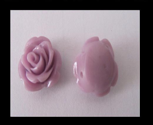 Rose Flower-14mm-light purple